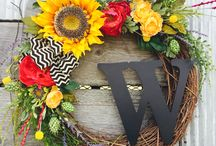 Spring Summer Wreaths / Spring Wreaths - Summer Wreaths - DIY Craft - Home DIY