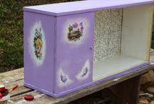 Lilac сupboard. Part 1. / Furniture restoration by Ievgeniia Kress ;)
