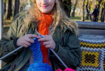 Yarnbombing in Omsk