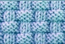 Vaffel/rute strikk