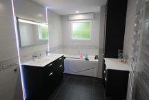 Meubles Salle de Bains Noir et Blanc / Des meubles de salle de bains Noir et Blanc de tous styles et sur mesure.