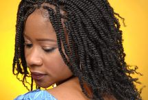 Twist Braids / Big, long and medium kinky twist braids hair and styles for women. Beautiful inspirational Twist Braid pictures for different hairstyles and braid types. - http://beautifieddesigns.com/twist-braids/
