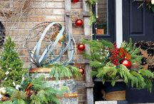 Christmas front porch ideas / Country style
