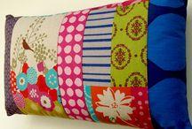 Modern patchwork cushions