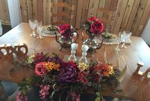 Vintage Rentals at Abbey Farms / Rustic-Chic Wedding Receptions at Abbey Farms