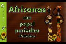 papírfonás, afrikai nők