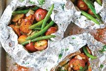 Victuals: Camping and Prep / Food you can take camping. Food that you can make ahead and it's ready to go. Stir-em-ups. Throw-on-the-fires. No cooking required. Salads are on a different board.