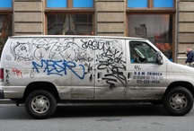 Trucks On The Street / Trying hard not to get run over while I shoot another obsession - these graffiti trucks! I want to shoot all in NYC.