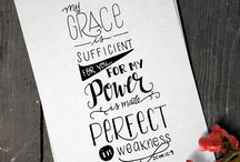 My Lettering Art Work / My lettering as featured on Instagram @loveletteredhere