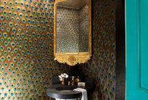 Peacock Bathroom / by Emily Hartsay
