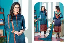 2663 Marie Gold Satin Digital Printed Salwar kameez
