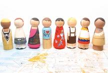 wooden doll ideas / by Becca Baughman