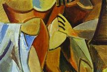 [1907 - 1914] Cubism / Cubism was a truly revolutionary style of modern art developed by Pablo Picasso and Georges Braques. It was the first style of abstract art which evolved at the beginning of the 20th century in response to a world that was changing with unprecedented speed. Cubism was an attempt by artists to revitalise the tired traditions of Western art which they believed had run their course. The Cubists challenged conventional forms of representation, such as perspective, which had been the rule since the Renaissance. Their aim was to develop a new way of seeing which reflected the modern age.