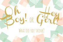 Gender Reveal / Gender reveal - Mint, peach, gold, white