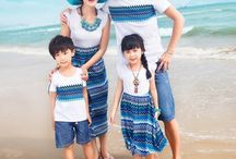Family Matching Outfits / Exclusive collection of designer colorful family matching outfits, mother-daughter dresses, father and sun clothes and summer beach dresses and more.