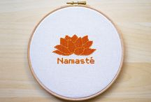 Yoga cross stitch