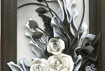 Deri ve keçe çiçek