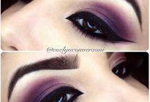 Maquiagem Roxa e Lilás