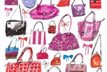 Illustrated Fashion Accessories / Examples of beautifully drawn shoes, purses, makeup and other accessories.