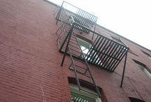West Side Story set: balcony