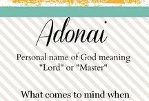 Names of God / Bible Study / by A L