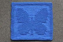 Carrés tricot réalisés / Carrés tricot réalisés