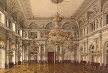 Художник Ухтомский Константин Андреевич. Акварель. Зимний Дворец. / The Winter Palace. Ukhtomsky, Konstantin Andreyevich (1818 - 1879). Artist and architect, educated at the Imperial. Academy of arts, which was released with the title of artist XIV class. in 1838, while Still a student of the Academy, was well written watercolor kinds of inner buildings and two similar works was awarded in 1838 and 1839, with silver medals.
