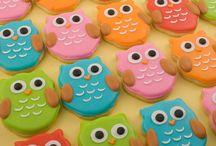 Owl cakes / cake decorating