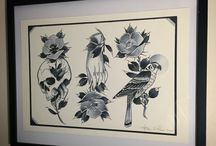 THE TALLON PRINTS / All designs by tattooist Jean Le Roux  (Unless stated otherwise)  All available at www.thetallon.com