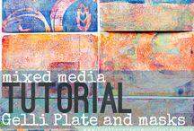 Gellie Arts / techniques and mediums for Gellie Arts Plates / by Rebekah Meier Designs