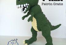 Dinosaurios crochet niños
