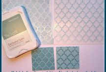 Embossing Folder Ideas