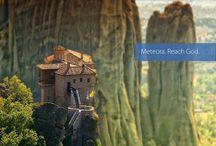 Meteora: mysterious, wild & inaccessible.. / Meteora: mysterious, wild & inaccessible landscape. Reach God. http://goo.gl/dKxkjD