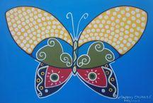 Arte Brasileira / Pintura acrílica sobre tela abrangendo vários aspectos da cultura brasileira.