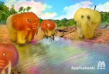 """Applephants! / Fresh produce brought to life with a set of magic knives and a charming b*%$&""""d!"""