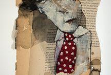 Collages de Francis Berthault / Des petits bouts de papier volés ou envolés qui racontent des histoires