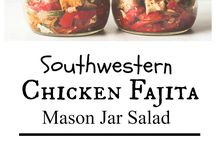 food in mason jars :3