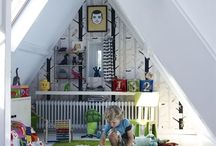 Playroom Inspiration / Lots of fun and exciting ideas to decorate your little prince and princesses playrooms. Playrooms should inspire imagination and creativity.