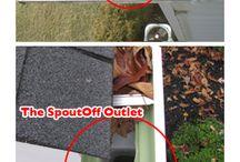Supersized Rain Gutter Outlets