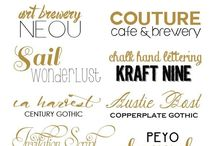 Beautiful Fonts / Beautiful fonts to use for your stickers, script fonts, handwritten and more