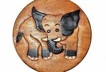 Child's Elephant Stool
