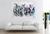 Ölbild abstrakt