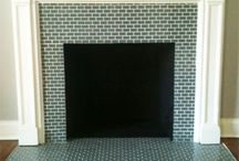 fireplace and tiles
