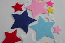 Die cut felt star