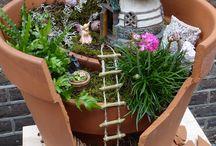 Fairy garden (ge)broken pot / Every pot can be broken, but what you do with the pieces is what counts!  Elke pot kun je breken, maar wat je er vervolgens mee doet is wat belangrijk is!