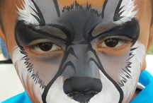 loup face painting