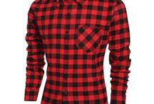 Camisas de manga longa xadrez
