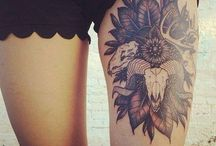 tattoos / thigh tattoos are beautiful.
