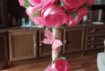 Decorative floral trees / Trees with flowers in pots. A great birthday and other occasions gift!