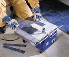 Tile Cutting / Cutting tiles at home or in an industrial environment HSS have what you need.   #toolhire #equipmenthire #hss #hsshire #tilecutting #diy #homeimprovement